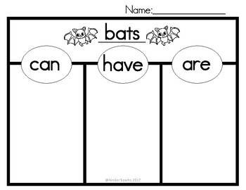 Can, Have, Are Chart- Bats