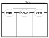 Can, Have, Are Graphic Organizer
