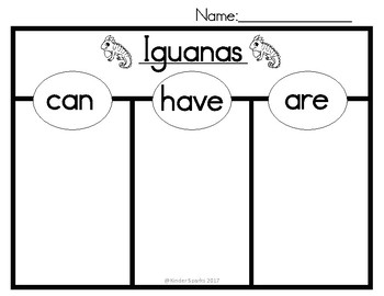Can, Have, Are Chart- IGUANAS -(Tree Map)