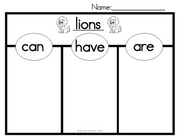 Can, Have, Are Chart- LIONS -(Tree Map)