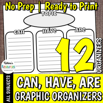 Can, Have, Are Organizer
