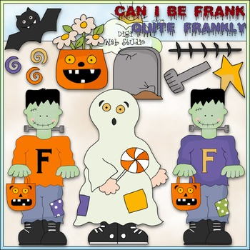 Can I Be Frank Clip Art - Halloween Clip Art - CU Colored Clip Art