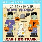 Can I Be Frank Frankenstein Halloween Line Art  C. Seslar