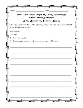 Can I Be Your Dog? Activity Packet