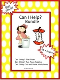 Helping Hands Theme BUNDLE, File Folder Games, Cut and Paste Activities Autism