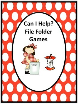 Life Skills Can I Help? Math & Literacy File Folder Games