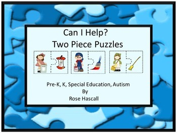 Life Skills, Puzzles, Kindergarten, Special Education ,Cut and Paste Puzzles