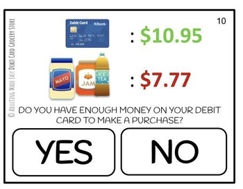 Can I Use My Debit Card? Grocery Store Task Cards