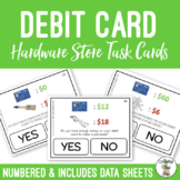 Can I Use My Debit Card? Hardware Store Task Cards