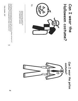 Can I Wear The Costume- mini book