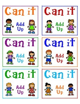 Can It! Addition Labels