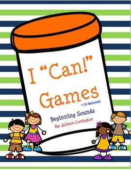 """I """"Can!"""" Beginning Sounds"""