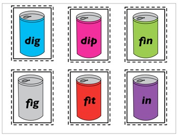 Can It!  Short - I Phonograms games and activities