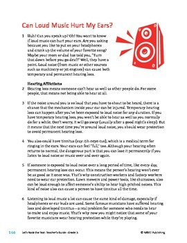 Can Loud Music Hurt My Ears - Informational Text Test Prep