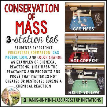 Conservation of Matter / Mass : 3 Station Lab