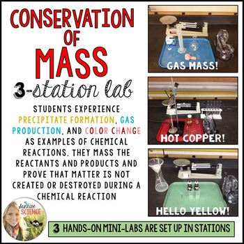 Conservation Of Matter Mass 3 Station Lab By Sunrise Science