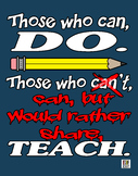 Can Teach, Inspirational Education Poster