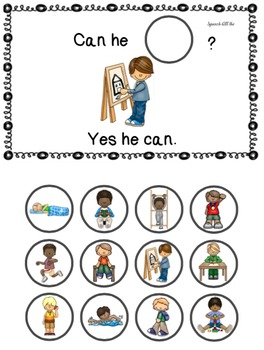 Can They Do It?:  Interactive Books for Pronouns & Verbs