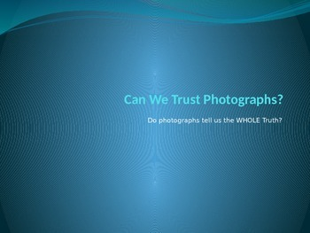 Can We Trust Photographs?