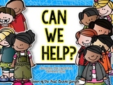 Can We help?; Classroom Job Cards (Large and Small)
