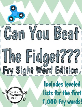 Can You Beat The Fidget [Fry Word Edition]