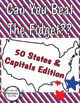 Can You Beat The Fidget?? [US States & Capitals Edition]