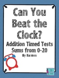 Can You Beat the Clock: Addition Timed Tests with Sums 0-20