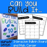 Can You Build It?: Number Sense Center and Interactive Bulletin Board #spedprep2