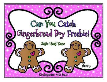 Can You Catch Gingerbread Boy Freebie