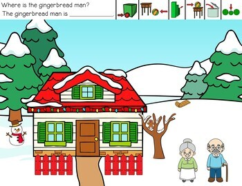 Can You Catch The Gingerbread Man? A Preposition Activity