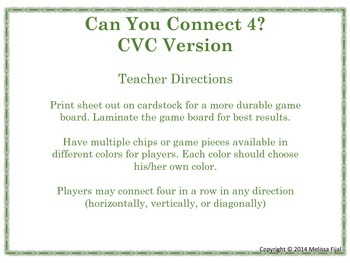 Can You Connect 4 CVC Version