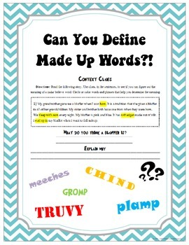 Can You Define Made-Up Words??!