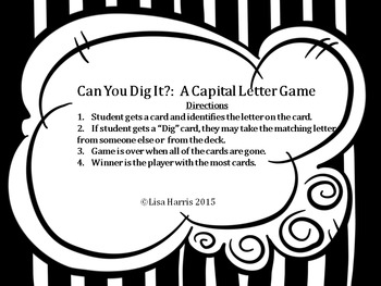 Can You Dig It?:  A Capital Letter Game