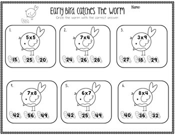 Multiplication and Division Math Problems Pack