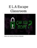 ELA Upper/Middle Grades ELA Escape Room Challenge