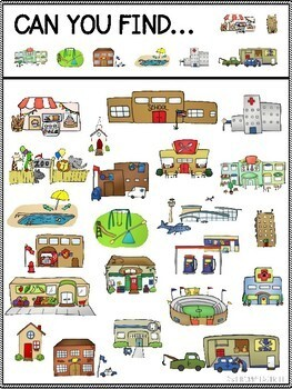 Can You Find: Community Buildings (Adult-Led questions included)