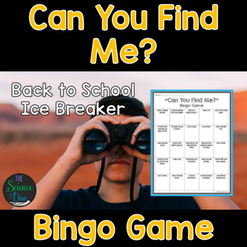 Can You Find Me? - Back to School Bingo Game