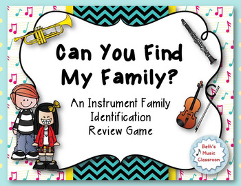 Can You Find My Family?  Instrument Family Identification Game