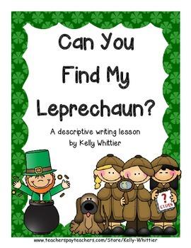 Can You Find My Leprechaun? St. Patrick's Day Descriptive