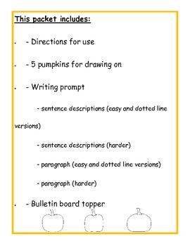 Can You Find My Pumpkin? Autumn/Halloween Descriptive Writing Activity