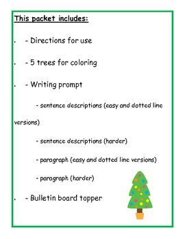 descriptive writing about a tree