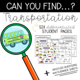 Can You Find: Transportation
