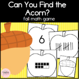 Can You Find the Acorn? Fall Math Game for Kindergarten