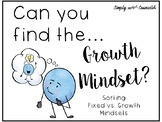 Can You Find the Growth Mindset? - Sorting Activity