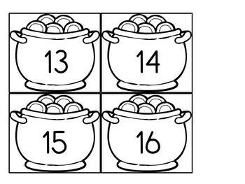 Can You Find the Shamrock? St-Patrick's Day Math Game for Kindergarten