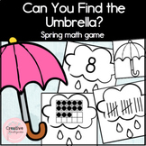 Can You Find the Umbrella? Spring Math Game for Kindergarten