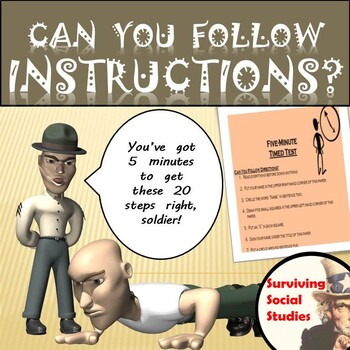 Can You Follow Instructions? - Fun First Day of School Activity!