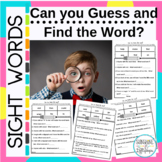 Sight Word Practice Can you Guess and Find the Sight Word?