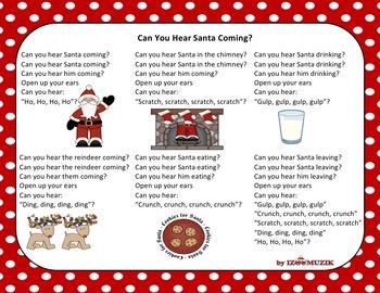Christmas Song - Can You Hear Santa + Sing-Along Track (mp3)