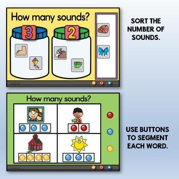 Phoneme Segmentation-Can You Hear the Sounds? {Promethean Flipchart}